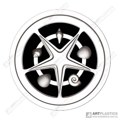 Picture of GRATE ROUND STARFISH CHROME (80MM)