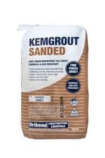 Picture of KEMGROUT LIGHT GREY SANDED (20KG)